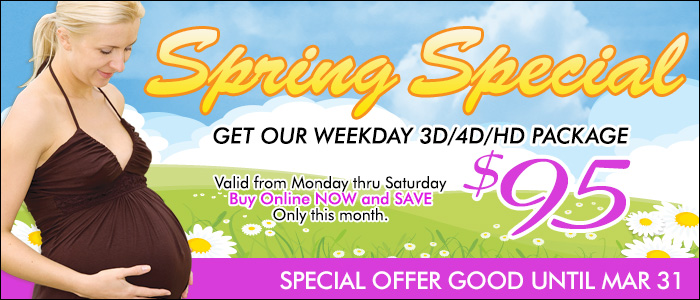 3D ultrasound weekday special for only $95